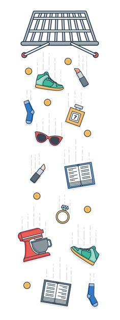 Cart Abandonment Basket Checkout Online Shopping Flat Logo Vector Design Graphic Design Illustration Illustrator