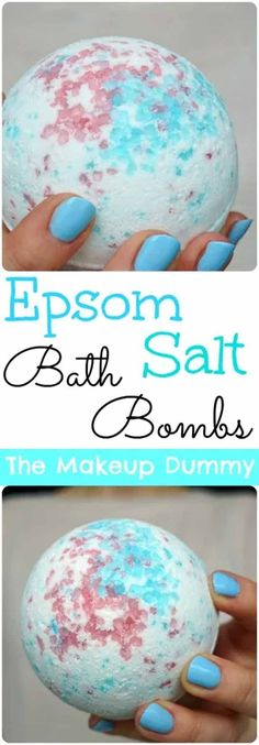 DIY Bath Bombs with Epsom Salt What I used: 3 tbsp. Epsom salt (or coarse sea salt) cup baking soda cup cornstarch or arrowroot powder cup citric acid 1 tbsp coconut oil spraying bottle with witch hazel or water liquid food coloring essential Homemade Beauty, Homemade Gifts, Diy Beauty, Diy Gifts, Beauty Tips, Beauty Hacks, Pure Beauty, Beauty Care, Homemade Recipe