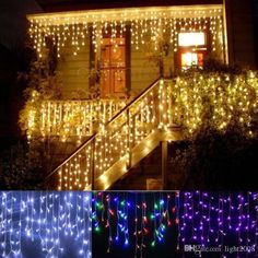 Hot! Icicle Light 3.5m 96led Droop 0.3 0.5m Curtain Lights 110v 220v Curtain Garlands Icicle String Lights Wedding, Christmas Party, Holida Purple String Lights Camping String Lights From Light2008