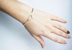 Visibly Interesting: Elegant solid Sterling Silver spike cuff bracelet