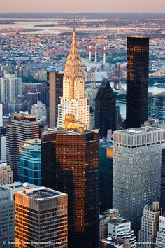 New York Skyscrapers centered by Chrysler Building - my fav building in NYC, United States.