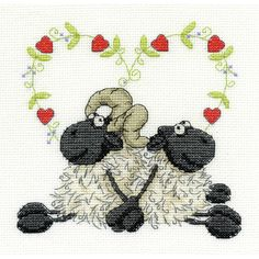 Dmc Love You Too Cross Stitch Kit 6 X 6 Inch | Hobbycraft