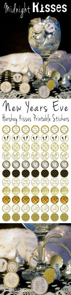 Hershey Kisses Printable Labels for Midnight Kisses