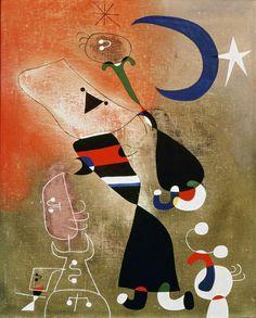 Women and Bird in the Moonlight (Femmes, oiseau au clair de lune), 1949