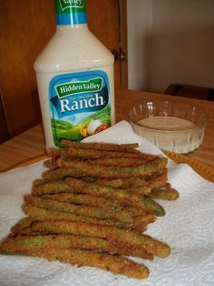 Green Bean Fries...they are the best! :)even Mitch who won't eat green veggies loved them!!!