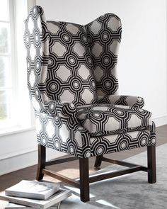 """""""Blakely"""" Wing Chair at Horchow."""