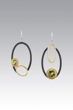 Peridot Earrings by Janis Kerman