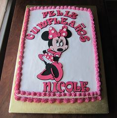 Simply Delightful Cakes Minnie Mouse Sheet Cake