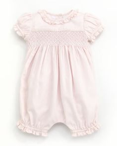 Smocked+Bubble+Playsuit,+3-9+Months+by+Ralph+Lauren+at+Neiman+Marcus.