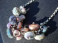 necklace made with Boro beads