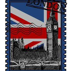 'London Stamp - Union Jack' by Magazine Collage, Cool Stickers, Union Jack, Stamps, Laptop, Graphic Design, London, Cool Stuff, Phone