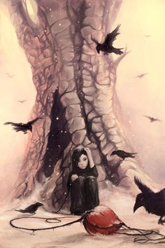Feeding the crows by Cyril ROLANDO