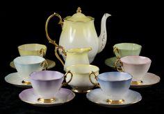 Royal Albert Lady Katherine 15 Piece Coffee Set Harlequin Colours