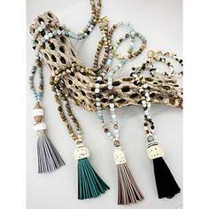 Tassel Necklaces  - vintagegreenjewelry.com