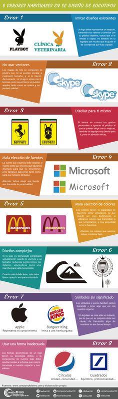 8 errores habituales en el diseño de logotipos #Infografía
