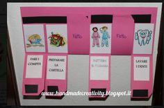 15 tabelle ispirate al metodo Montessori per insegnare ai bambini come organizzare la giornata - Nostrofiglio.it Daily Routine Chart, Routine Planner, Homemade Gifts, Kids And Parenting, Preschool, Frame, Blog, Aba, Convenience Store