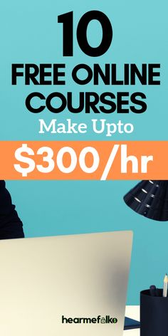 Most Desired Work from Home Online Courses Work from home courses: Free courses to make money online staying at home. Build your career with these profitable work at home jobs and make big bucks. and work your way this from home courses: Free courses t Ways To Earn Money, Earn Money From Home, Earn Money Online, Make Money Blogging, Way To Make Money, Saving Money, Money Fast, Saving Tips, Earn Free Money