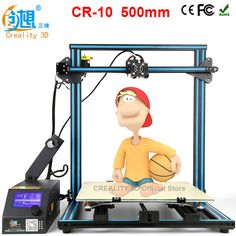 Printer CREALITY 3D CR-10 3d printer diy large size 500*500*500mm 3d printer metal Frame 3D Printing Machine Filament card Gift -- AliExpress Affiliate's buyable pin. Click the VISIT button to view the details on www.aliexpress.com