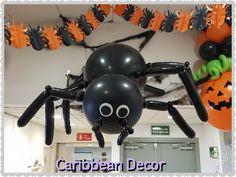Araña gigante Halloween Halloween Balloons, Party Ideas, Events, Giant Spider, Halloween Prop, Globe Decor, Costumes, Ideas Party