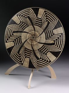 "*Wood Sculptue - ""Pima Pinwheel"" by David Nittmann (Basket Illusion)"