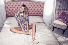 AW14: NEW CAN PLAY THAT GAME #model #60s #jaquard #graphic #joannahalpin #boudoir #fashion