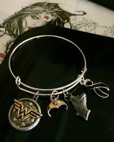 Melanoma Survivor awareness bracelet - Black Ribbon Charm - Skin Cancer / Basel Cell Carcinoma - adjustable Silver - Wonder Woman by RockYourCauseJewelry on Etsy