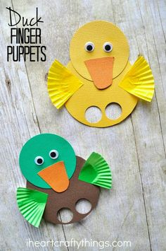 These duck finger puppets are simple to make and are a great spring kids craft. Visit a local pond to feed the ducks and then come home and make a cute duck ...  sc 1 st  Pinterest & Paper Plate Duck Craft for Kids (craft for story of: the ugly ...