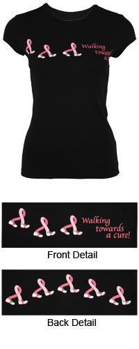 Walking Towards a Cure Tee at The Breast Cancer Site
