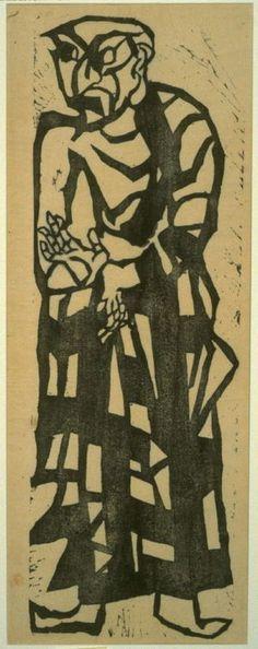 Munakata Shiko: Mokukenren from Great Disciples of Buddha