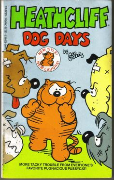 Vintage  Heathcliff  Dog Days  Paperback  1988 by ShopHereVintage, $7.00