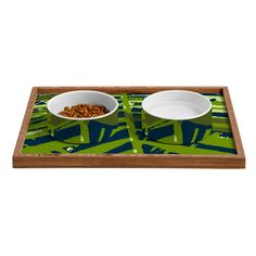 Rosie Brown Las Palmas Pet Bowl and Tray | DENY Designs Home Accessories   #pet #bowl #tray #dog #cat #art #denydesigns #homedecor