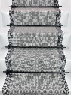 Felton Border - Seal Grey runners Bowloom Carpets London