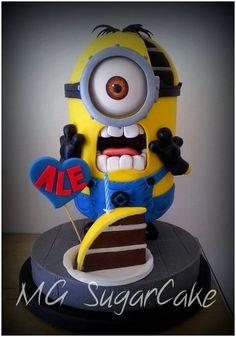 MINION CAKE Minion Cake birthday party kids adult unisex cupcake popcake boys and girl
