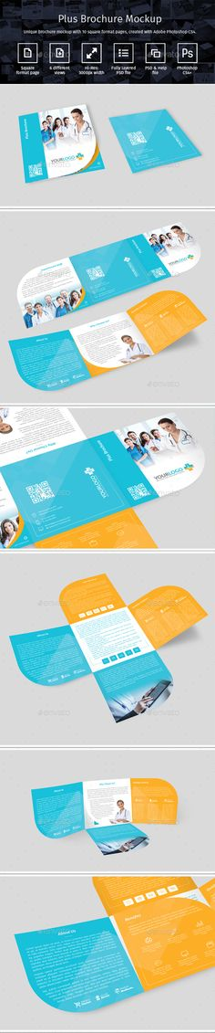 Plus Brochure Mockup. Download here: http://graphicriver.net/item/plus-brochure-mockup/15723405?ref=ksioks