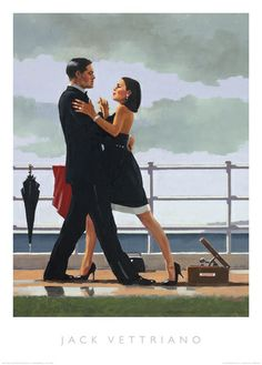 Signed limited edition prints and art prints by British artist Jack Vettriano at the Red Rag British Art Gallery Jack Vettriano, Nadir Afonso, Old Posters, Saint Yves, Edward Hopper, Ballroom Dancing, Dance Art, Rain Dance, Oeuvre D'art