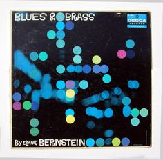 Saul Bass Album Cover - Blues & Brass by Elmer Bernstein. $52.00, via Etsy.
