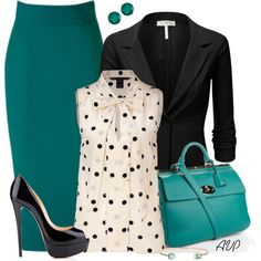 """""""Emerald Pencil Skirt"""" by amy-phelps on Polyvore"""