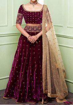 Lehenga Choli Designs, Lehenga Designs Simple, Lehenga Designs Latest, Choli Blouse Design, Wedding Lehenga Designs, Half Saree Designs, Saree Blouse Designs, Indian Gowns Dresses, Indian Fashion Dresses
