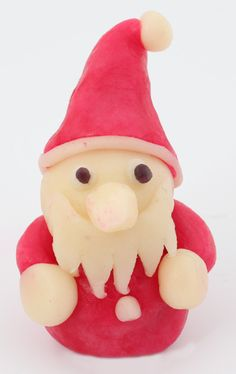 A Santa made with marzipan for all those who cannot have a chocolate Santa