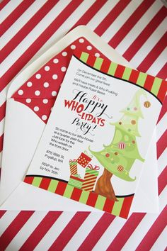 Grinch Inspired Kids Invitation Party Ideas