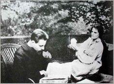 Rilke with Clara Westhoff-Rilke (1906
