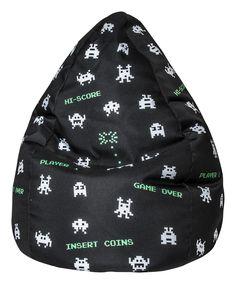 Stylischer Indoor Kindersitzsack 70x110 Sitzkissen Bean bag XL im Computerdesign mit