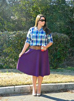 Plum Perfect featuring a @gwynniebee skirt
