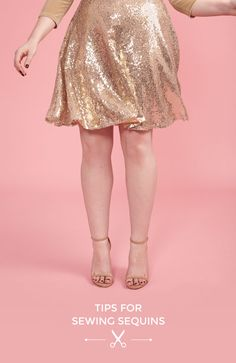 Tips for Sewing Sequin Fabrics - Tilly and the Buttons Sewing Hacks, Sewing Tutorials, Sewing Tips, Sewing Ideas, Make Your Own Clothes, Diy Clothes, How To Sew Sequins, Tilly And The Buttons, Sewing Material