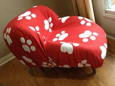 I finished another Lounger today! This is made using an Upcycled child booster seat  transformed into a Pet Bed for small dogs & cats  I love the fabric for this one! #LavishLoungers www.lavishloungers.com