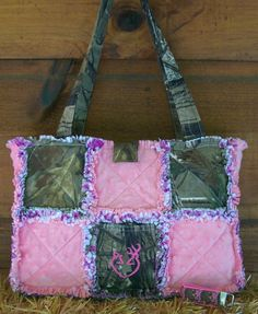 Real Tree Camo Pink Browning Heart Diaper Bag