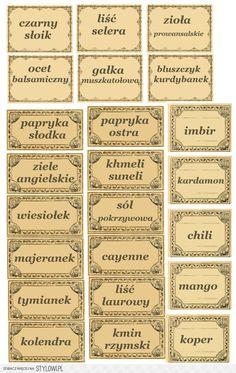 Etykiety na przyprawy - apteczny styl vintage - herbine… na Stylowi.pl