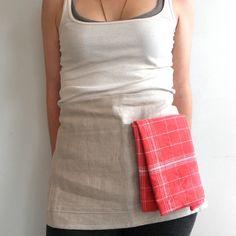 Cafe simple linen apron