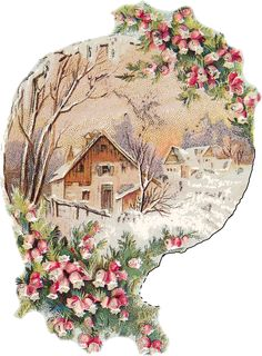Home Cabin Flowers Snow transparent image