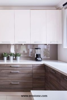 Wood grain countertops are trending right now. Let them sing by